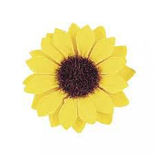 12 Fleurs Tournesol jaune - 3,5cm