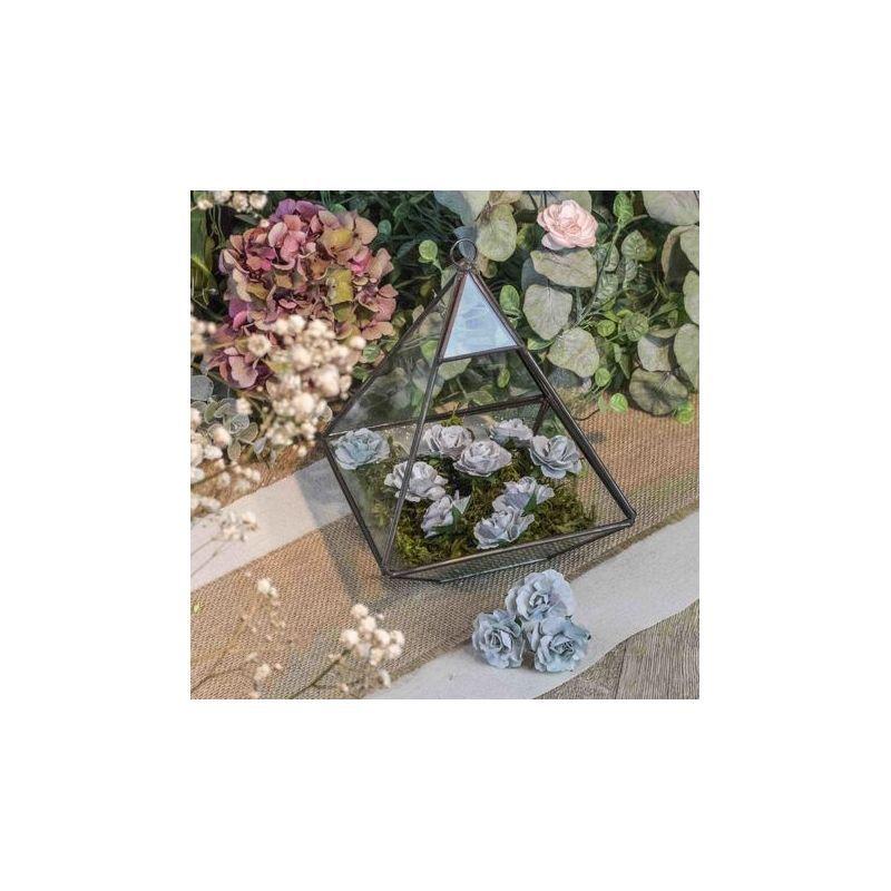 12 roses Grises sur tige - 3,5cm