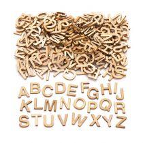 162 Lettres majuscules Bois Artémio -1.3x1.2 CM