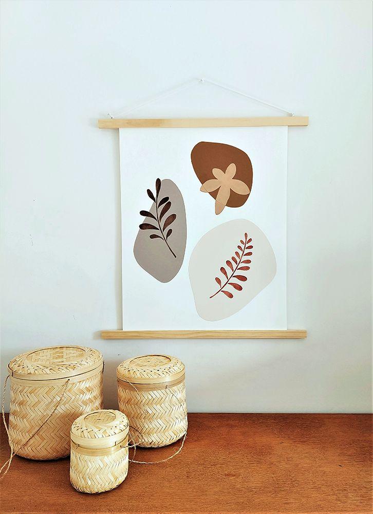 2 Pochoirs Feuilles 20x20 cm Artémio