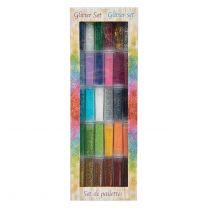 30 tubes de paillettes couleurs dégradés
