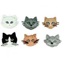 """5 Boutons décoratifs \""""Chats\"""""""