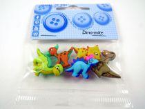 """5 Boutons décoratifs \""""Dinosaures\"""""""