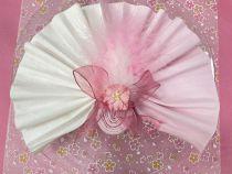 6 Fleurs en papier murier vieux rose en dégradé scapbooking Florella