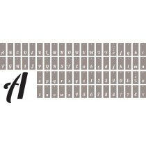 70 Pochoirs Alphabet détachable 13x6cm Artémio