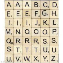 Alphabet Lettres en bois 2x2cm - 42 pièces-Artémio
