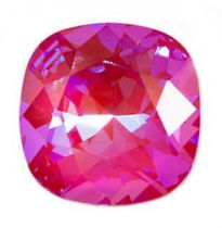 Cabochon Carré 4470 Crystal Pink Lotus Delite 12mm x1