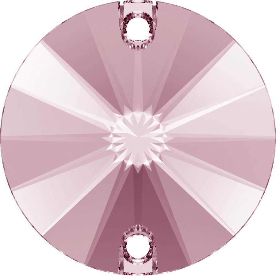 Cabochon rond 3200 Light Rose 10mm x1 à coudre