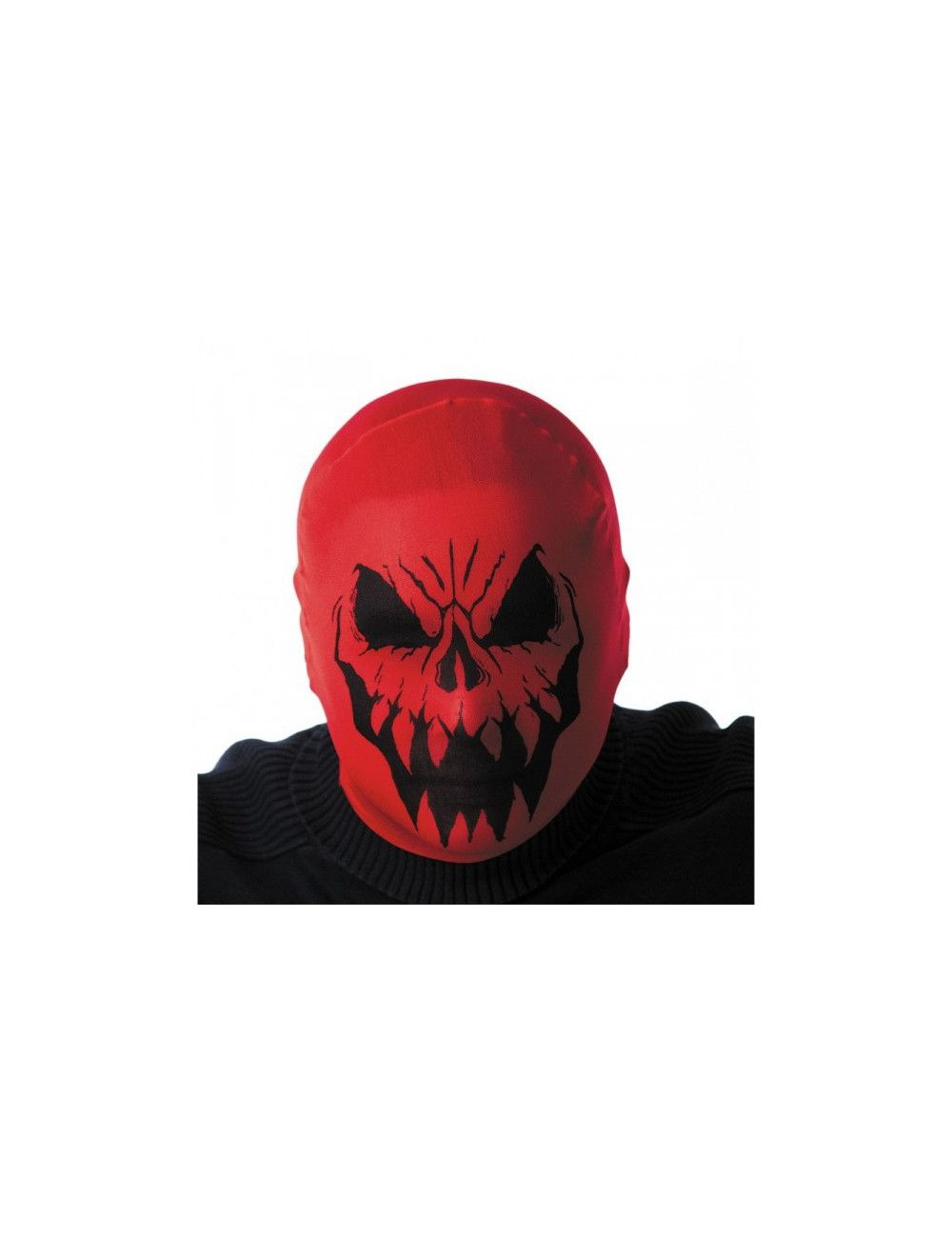 Cagoule halloween monstre rouge