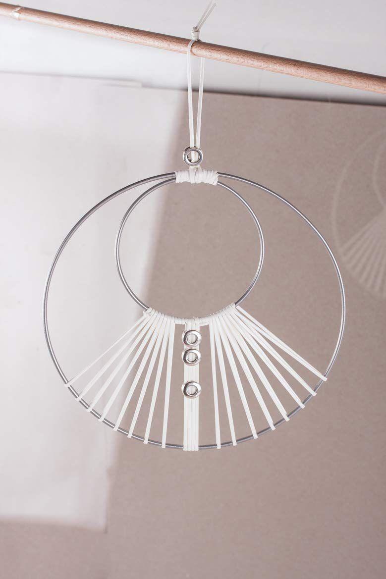 Cercle nu en métal argent Ø 20cm