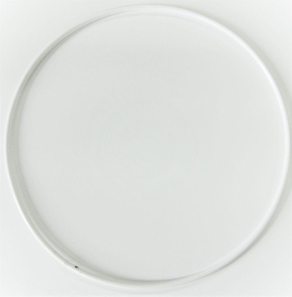 Cercle nu en métal blanc Ø 15cm
