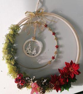 Cercle nu en métal blanc Ø 30cm