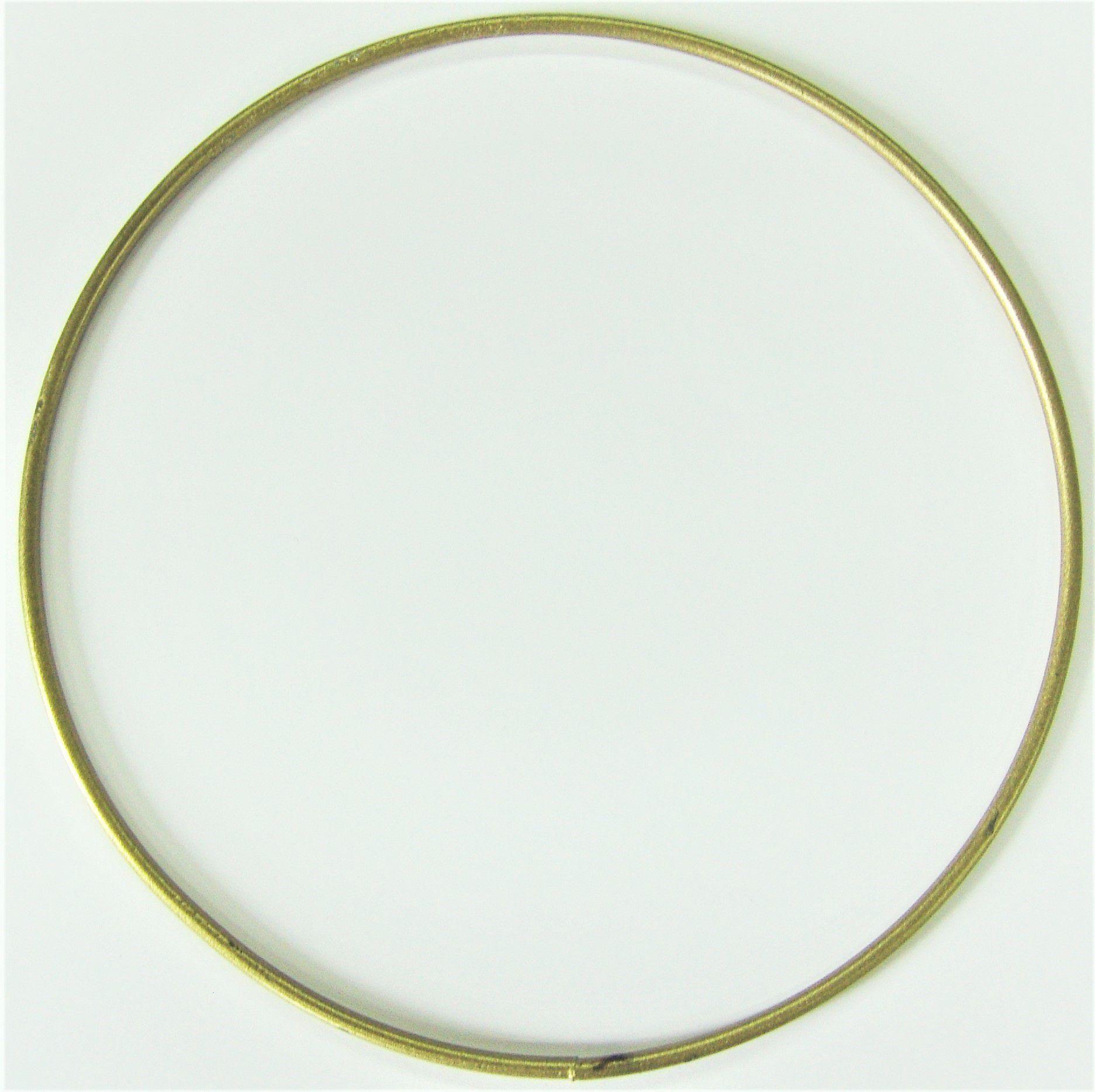 Cercle nu en métal doré Ø 20cm