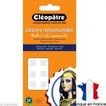 Cléotops 80 pastilles transparentes repositionnables