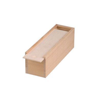 Coffret en bois couvercle coulissant brut