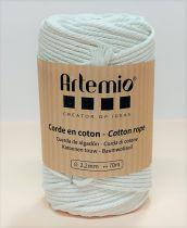 Corde en coton Blanc diam: 2,2mm Artémio