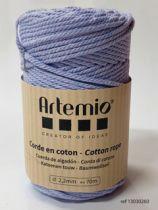 Corde en coton Bleu lavande diam: 2,2mm Artémio