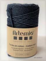 Corde en coton Bleu marine diam: 2,2mm Artémio