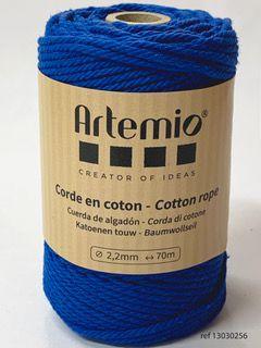 Corde en coton Bleu Roi diam: 2,2mm Artémio