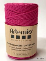 Corde en coton Fuchsia diam: 2,2mm Artémio
