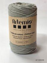 Corde en coton Gris clair diam: 2,2mm Artémio
