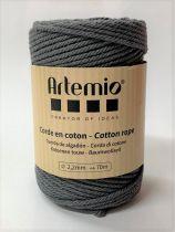 Corde en coton Gris foncé diam: 2,2mm Artémio