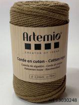 Corde en coton Marron clair diam: 2,2mm Artémio