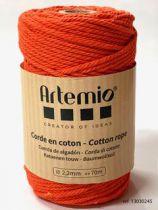 Corde en coton Orange diam: 2,2mm Artémio