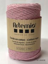 Corde en coton Rose clair diam: 2,2mm Artémio