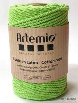 Corde en coton Vert clair diam: 2,2mm Artémio