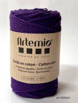 Corde en coton Violet diam: 2,2mm Artémio