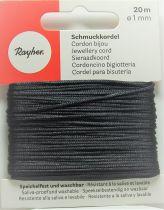Cordon Polyester Noir 1mm
