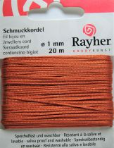 Cordon Polyester Orange 1mm - 20m