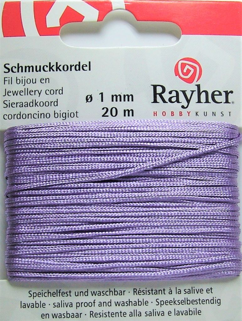 Cordon Polyester Parme 1mm - 20m