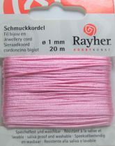 Cordon Polyester Rose 1mm - 20m