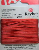 Cordon Polyester Rouge 1mm - 20m