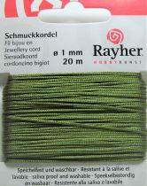 Cordon Polyester Vert Olive 1mm - 20m