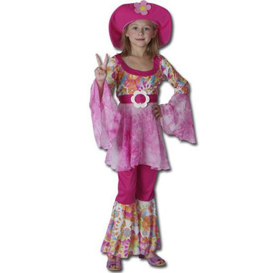 Costume hippie fille 5/6 ans