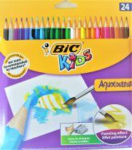 Crayons de couleur aquacolor x24