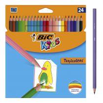 Crayons de couleur kids tropicolors Bic x24