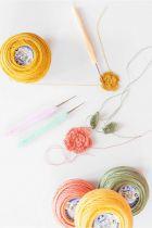 Crochet 1mm Aluminium Ergonomique DMC rose x1