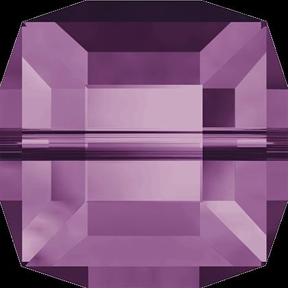 Cubes 5601 Amethyst 6mm x1 Cristal Swarovski