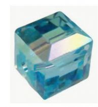 Cubes 5601 Aquamarine AB 4mm x6 Cristal Swarovski