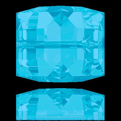Cubes 5601 Carribean Blue Opal 6mm x1 Cristal Swarovski