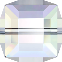 Cubes 5601 Crystal AB 6mm x1 Cristal Swarovski