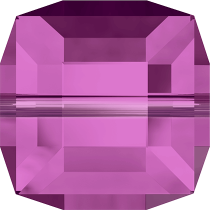 Cubes 5601 Fuchsia 4mm x6 Cristal Swarovski
