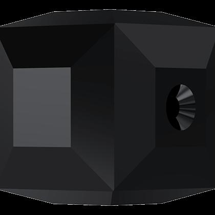 Cubes 5601 Jet 4mm x6 Cristal Swarovski