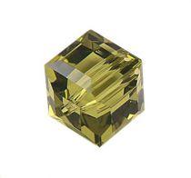 Cubes 5601 Kaki 6mm x1 Cristal Swarovski