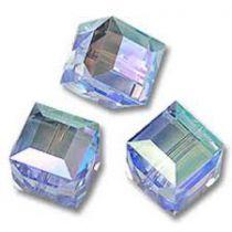 Cubes 5601 Light Sapphire AB 4mm x6 Cristal Swarovski