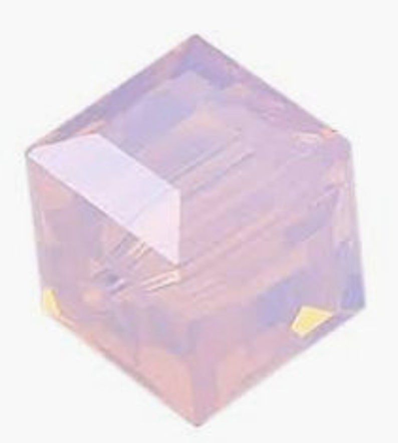 Cubes 5601 Rose Water Opal 4mm x6 Cristal Swarovski